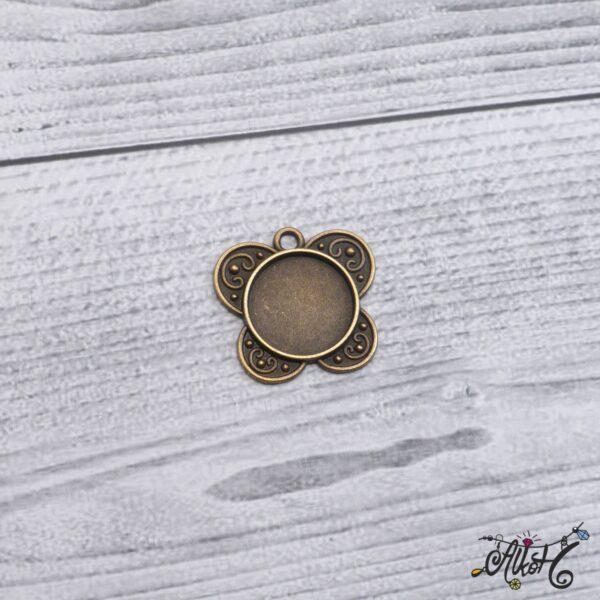 Pillangó medál alap (18mm) 3