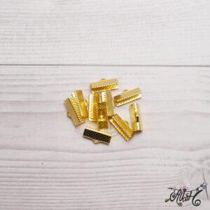 Szalagvég arany, 16x8mm