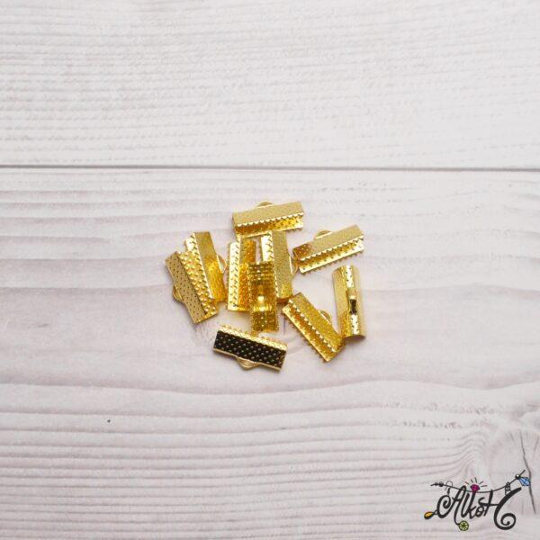 Szalagvég arany, 16x8mm 3