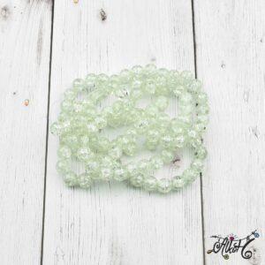 Robbantott gyöngy – áttetsző fehér, 8 mm
