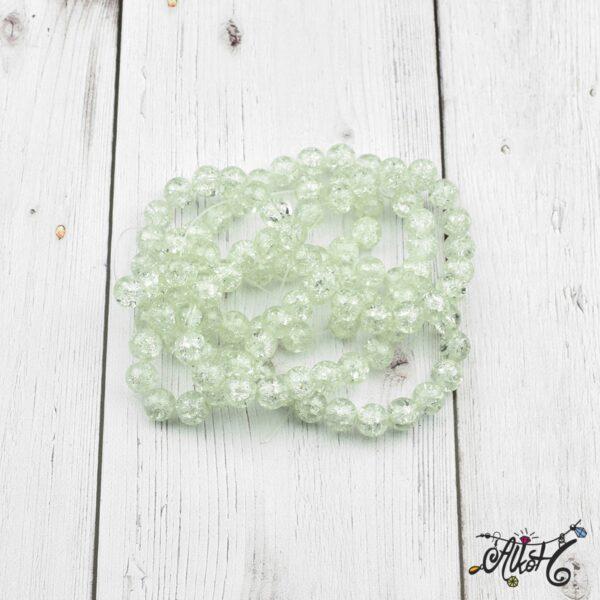 Robbantott gyöngy - áttetsző fehér, 8 mm 2