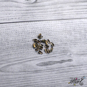 Bőrvég antik bronz, 6x3mm (10 db)