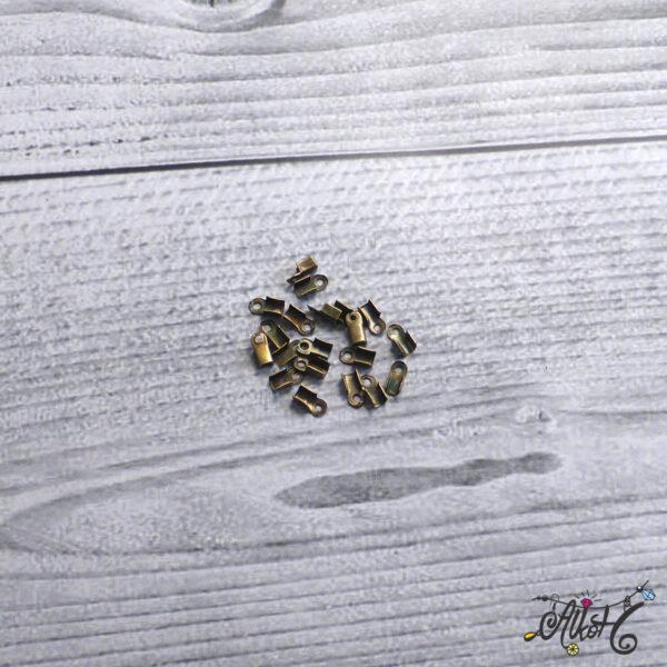 Bőrvég antik bronz, 6x3mm (10 db) 3