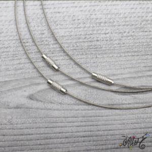 Sodrony nyaklánc alap – ezüst