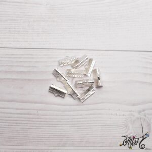 Szalagvég ezüst, 16x8mm