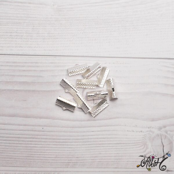 Szalagvég ezüst, 16x8mm 3