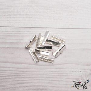 Szalagvég ezüst, 20x8mm