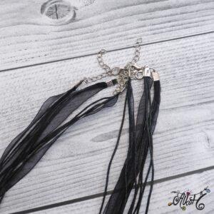 Organza nyaklánc alap – fekete