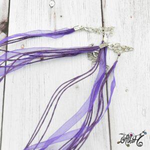 Organza nyaklánc alap – lila