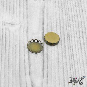 """Medál alap """"hullámos"""" – antik bronz, 18mm"""