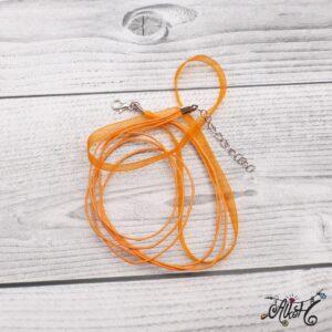 Organza nyaklánc alap – narancs