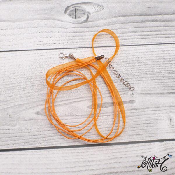 Organza nyaklánc alap - narancs 3