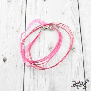 Organza nyaklánc alap – pink