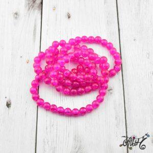 Robbantott gyöngy – pink, 8 mm