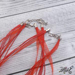 Organza nyaklánc alap – piros