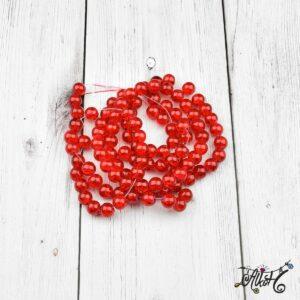 Robbantott gyöngy – piros, 8 mm