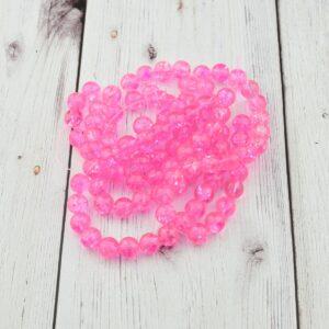 Robbantott gyöngy – erős rózsaszín, 8 mm