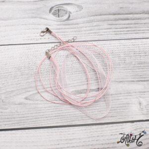Organza nyaklánc alap – rózsaszín