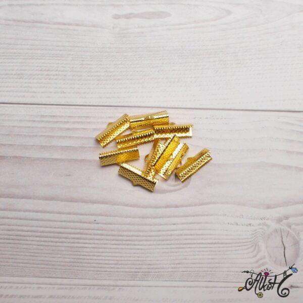 Szalagvég, arany 20x8mm 2