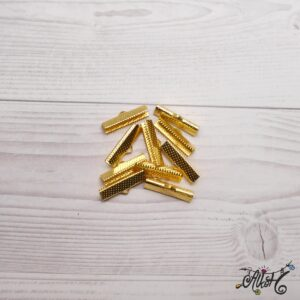 Szalagvég arany, 25x8mm