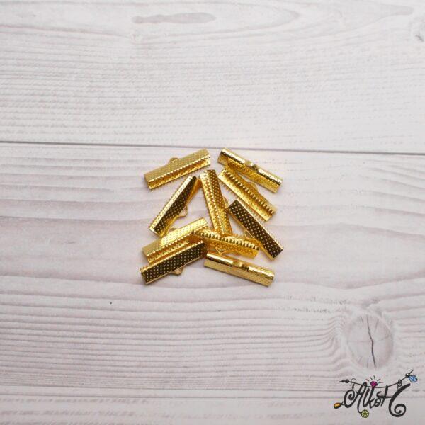 Szalagvég arany, 25x8mm 3