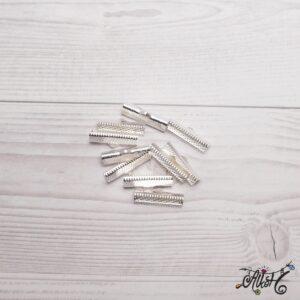 Szalagvég ezüst, 25x8mm