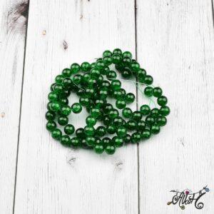 Robbantott gyöngy – zöld, 8 mm