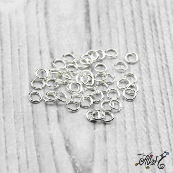 Szerelőkarika szimpla - ezüst 4 mm 3