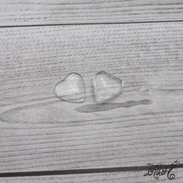 Üveglencse, szív - 20 mm 3
