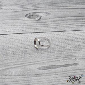 """Ezüst színű gyűrű alap – """"tányéros"""" (12 mm)"""
