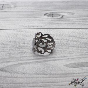 Díszes gyűrű alap – acél szín