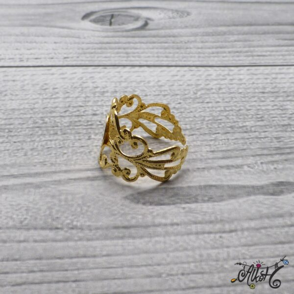 Díszes gyűrű alap - arany 5