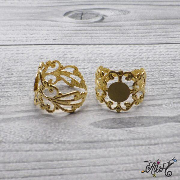 Díszes gyűrű alap - arany 3