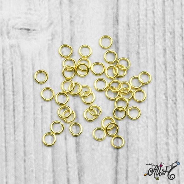 Szerelőkarika szimpla - arany 4 mm (20db) 3