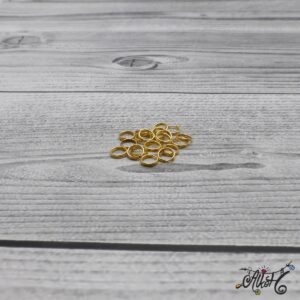 Szerelőkarika dupla – arany 6 mm (20db)