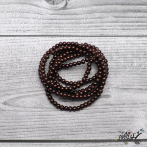 Viaszgyöngy – barna, 4 mm