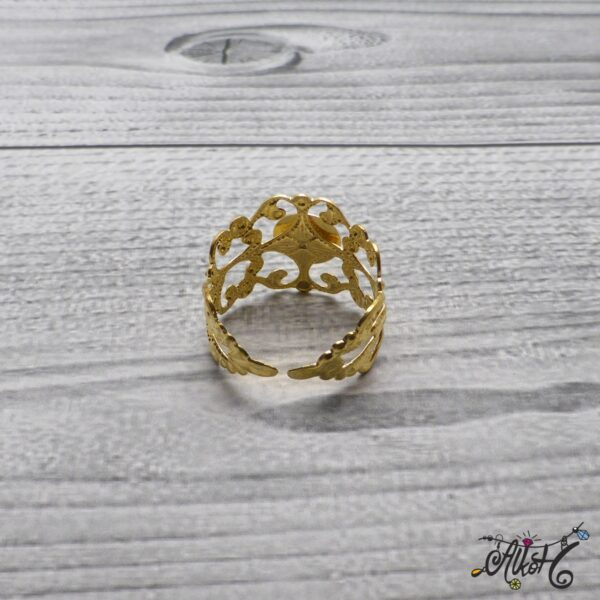 Díszes gyűrű alap - arany 4