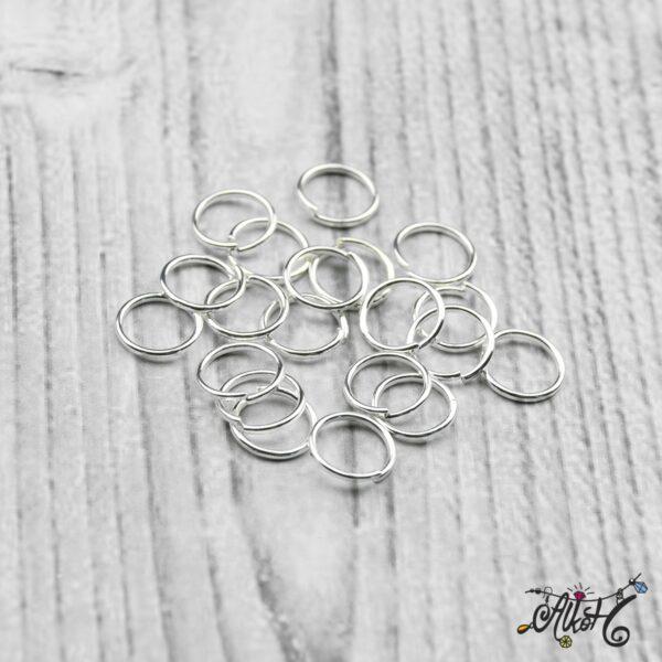 Szerelőkarika szimpla - ezüst 8 mm (20db) 4
