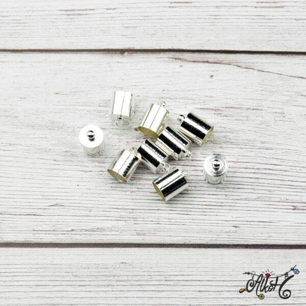 Végzáró kupak - ezüst, 12x8mm 3