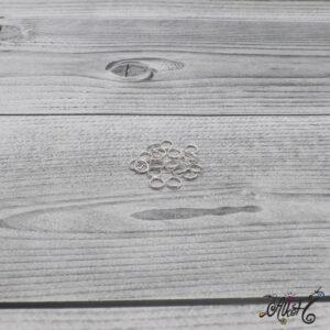 Szerelőkarika dupla – ezüst 6 mm