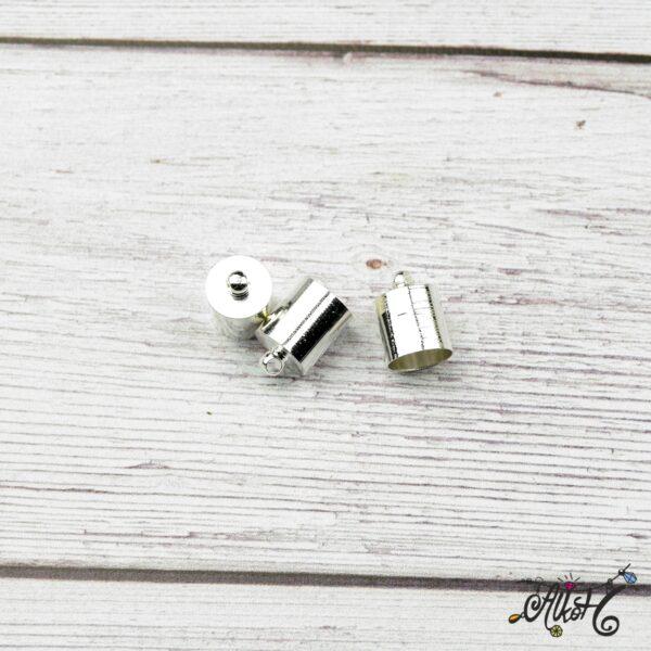 Végzáró kupak - ezüst, 12x8mm 4