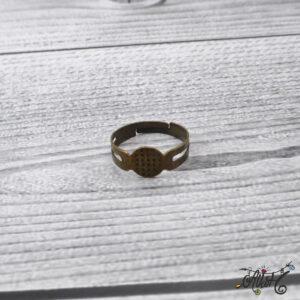 Antik bronz gyűrű alap – ragasztható