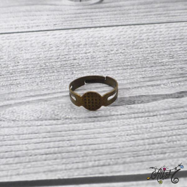 Antik bronz gyűrű alap - ragasztható 3