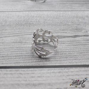Díszes gyűrű alap – ezüst