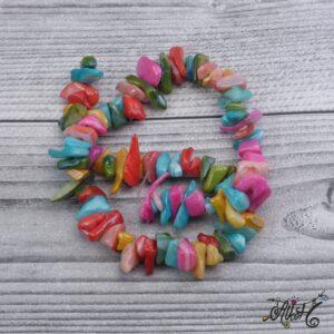 Színes édesvízi kagyló szál