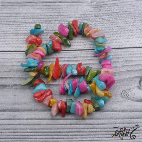Színes édesvízi kagyló szál 2