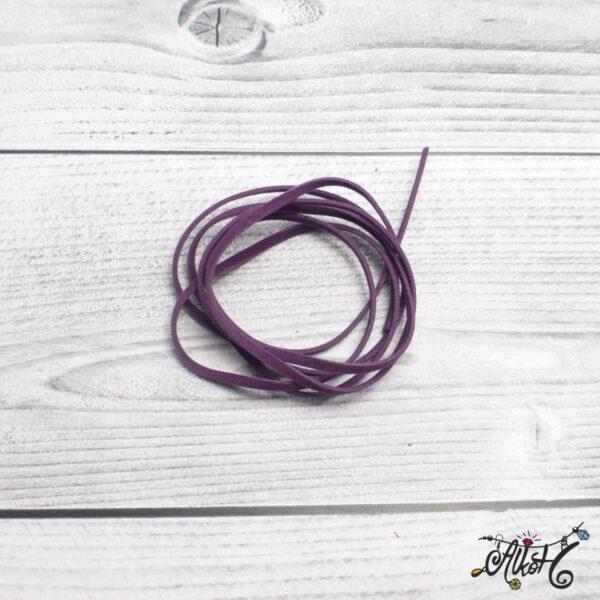 Velúr hatású szál - sötét lila 4