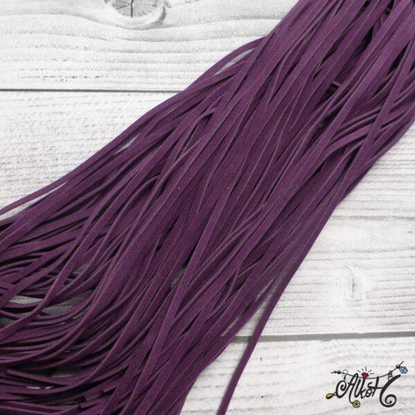 Velúr hatású szál - sötét lila 3