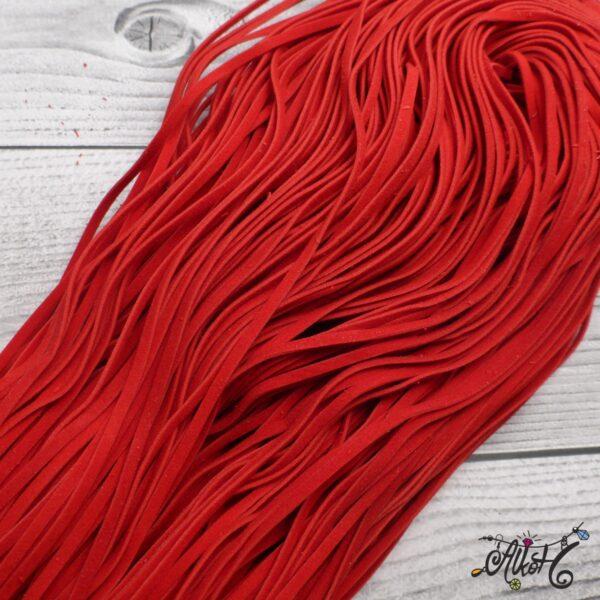 Velúr hatású szál - piros 3