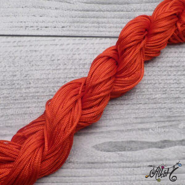 Selyemfényű zsinór - élénk piros 3